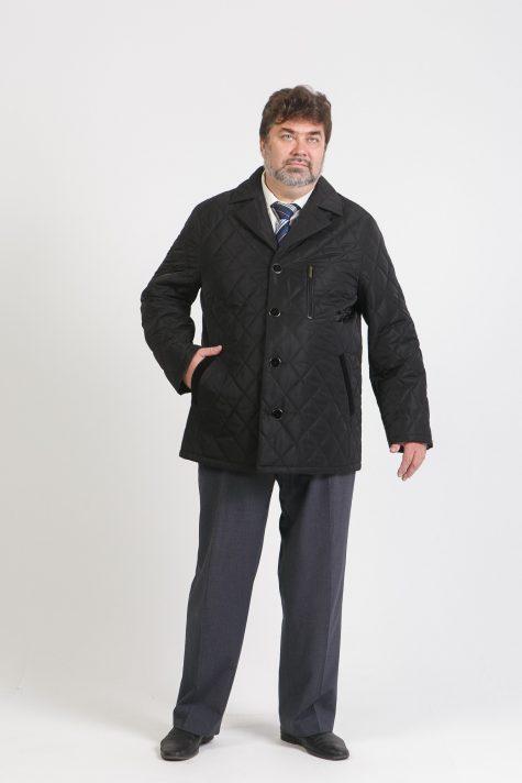 Мужская куртка из стеганой плащевки, цвет черный в интернет-магазине Фабрики Тревери