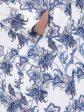 Куртка трапеция из принтованной ткани, цвет фиолетовый в интернет-магазине Фабрики Тревери