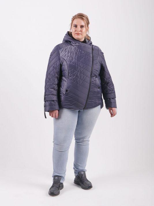Брендовая молодёжная куртка «косуха», цвет серый в интернет-магазине Фабрики Тревери