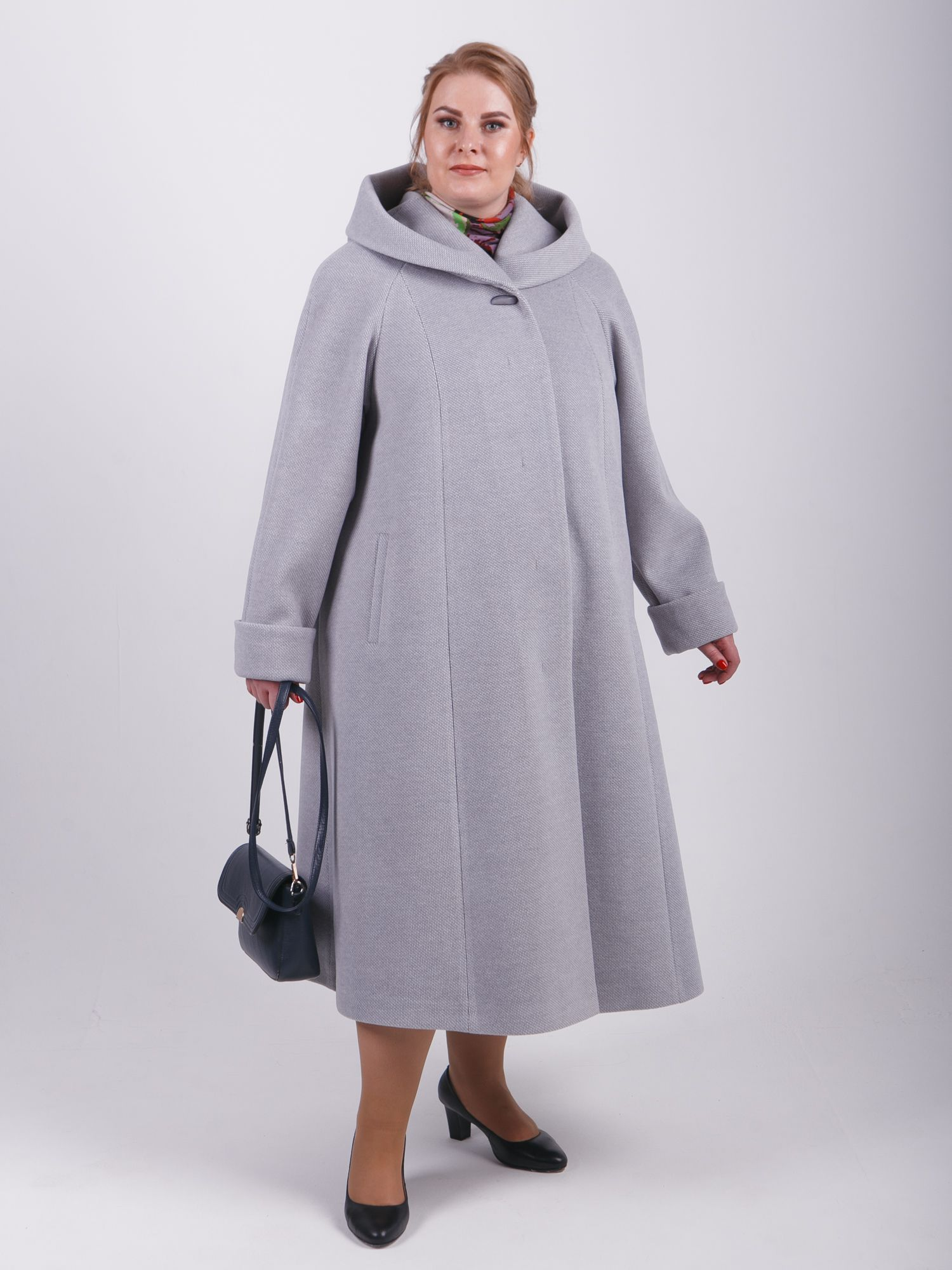 пальто женское серый цвет