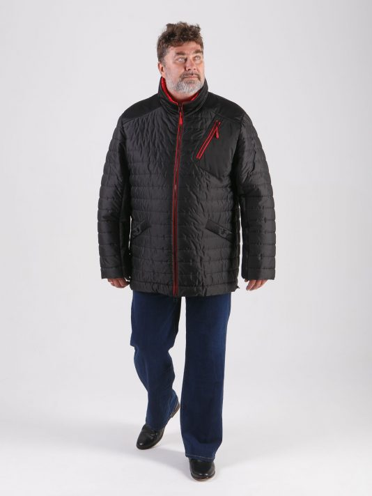 Интересная спортивная мужская куртка прямого силуэта, цвет черный в интернет-магазине Фабрики Тревери