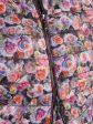 Модная женская куртка из стеганной ткани с ярким мультиколоровым принтом, цвет розовый в интернет-магазине Фабрики Тревери
