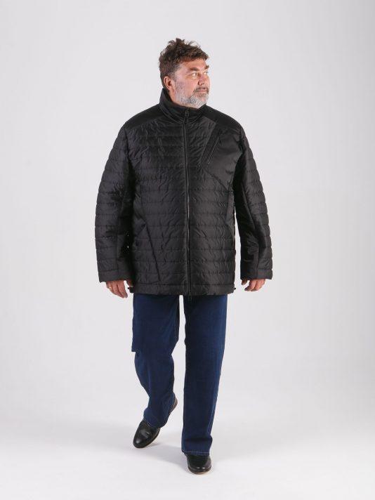 Спортивная демисезонная мужская куртка, цвет черный в интернет-магазине Фабрики Тревери
