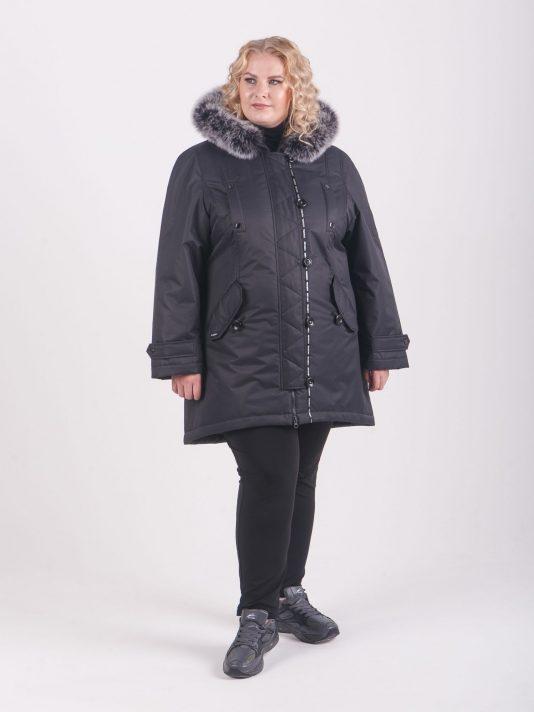 Зимняя брендированная куртка на мембране, цвет черный в интернет-магазине Фабрики Тревери