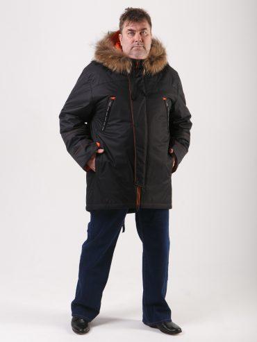 Мужская аляска с отделкой из дышащей ткани на мембране, цвет черный в интернет-магазине Фабрики Тревери