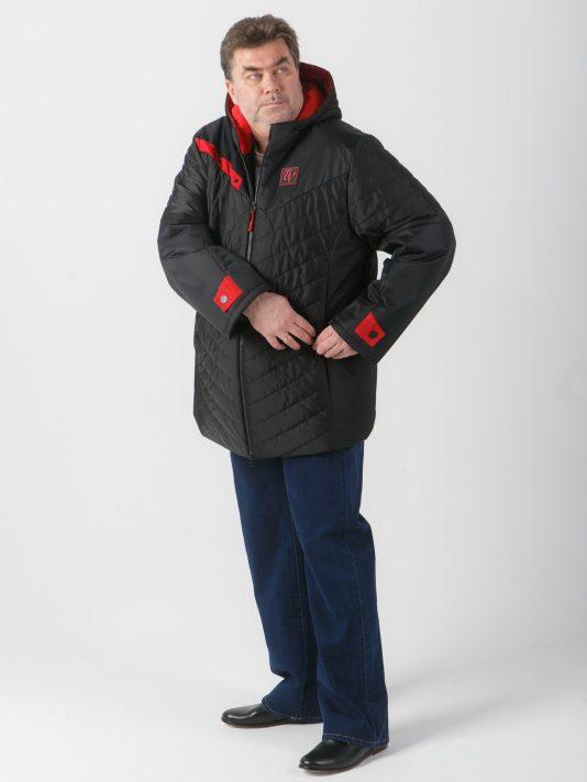 Броская спортивная куртка прямого силуэта, цвет черный в интернет-магазине Фабрики Тревери