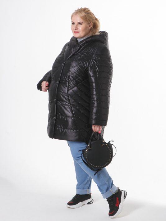 Асимметричное пальто на пуговицах, цвет черный в интернет-магазине Фабрики Тревери