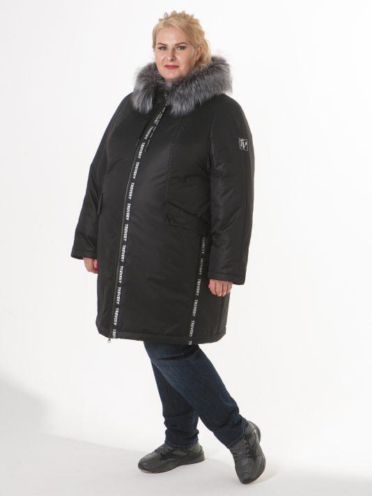 Женская спортивная куртка с мехом, цвет черный в интернет-магазине Фабрики Тревери